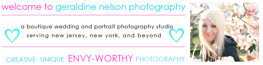 Welcome to Geraldine Nelson Photography, a boutique wedding and portrait photography studio serving NJ, NY, and beyond